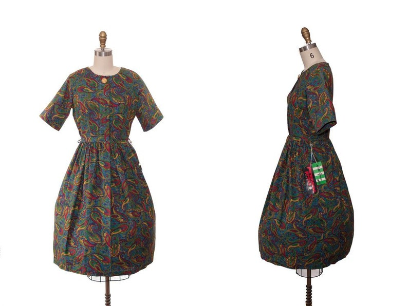 Vintage 1960 Dress / 60s Day Dress New Old Stock / 1960s Day image 0