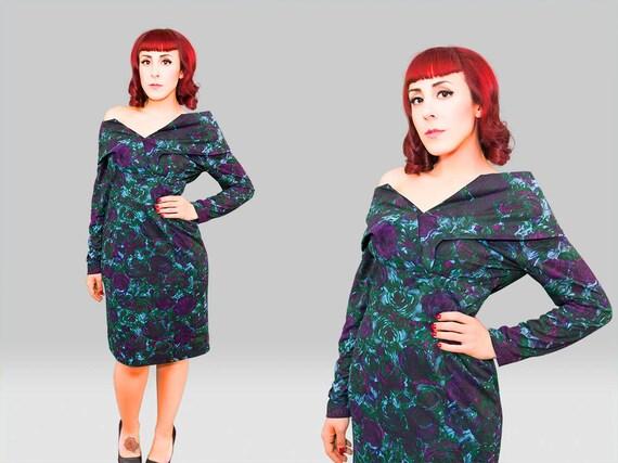 Vintage 1950s Dress /  50s Wiggle Dress  / Vintage