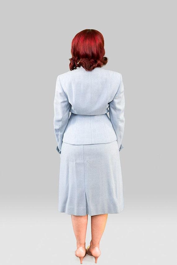 Vintage 1940s Skirt Suit / 40s Three Piece Suit /… - image 4