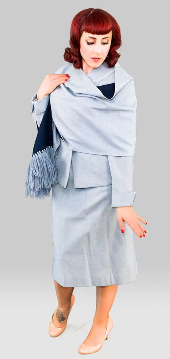 Vintage 1940s Skirt Suit / 40s Three Piece Suit /… - image 2