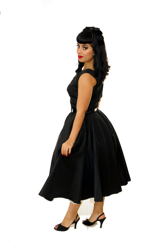 Vintage 1950s Dress /  50s  Party Dress / Vintage… - image 4