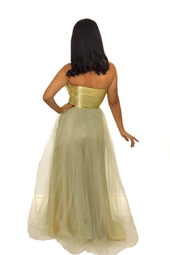 Vintage 1950s  Prom Dress /  50s Dress / Vintage … - image 4