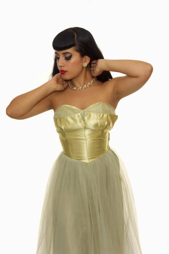 Vintage 1950s  Prom Dress /  50s Dress / Vintage … - image 2