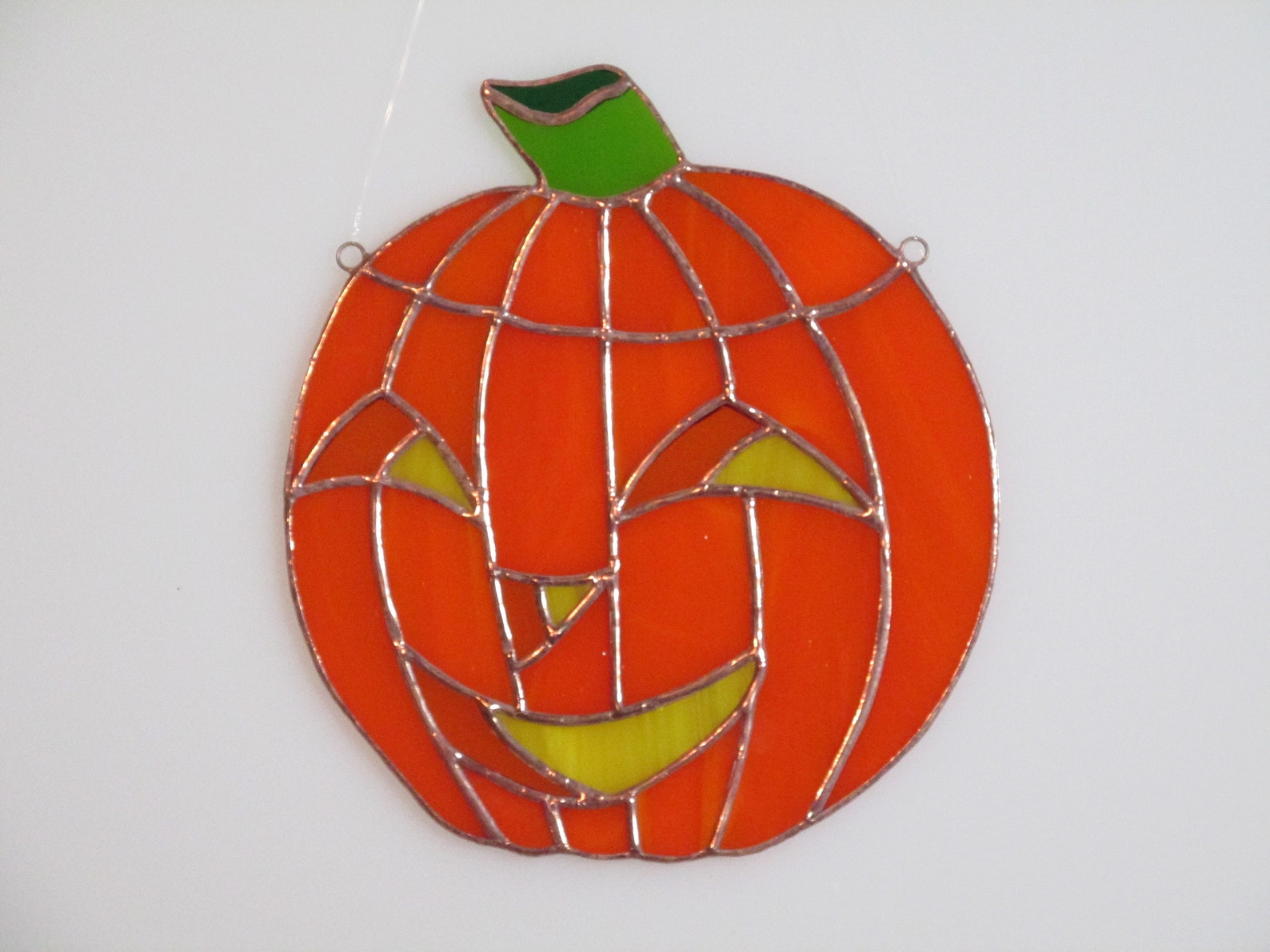 Jack O Lantern Stained Glass Suncatchers