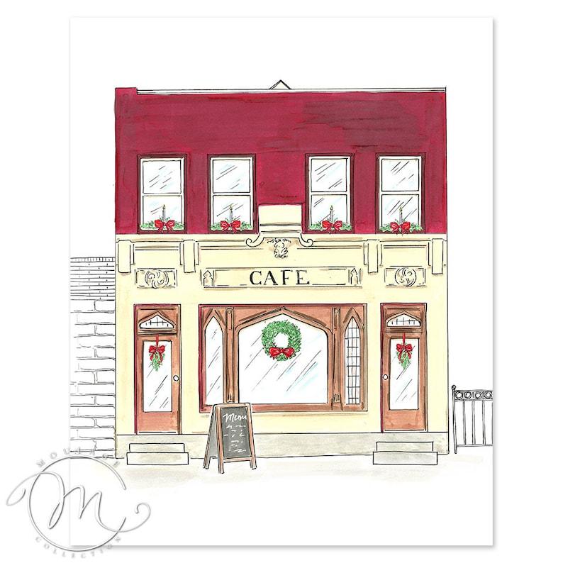 Cafe artwork digital download printable art image 0