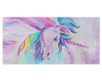 Abby'S Unicorn Beach Towel