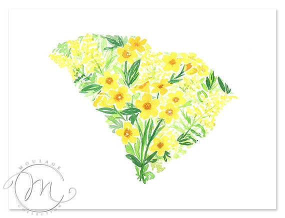 Yellow Jessamine State Flower of South Carolina Cross Stitch Pattern NEW