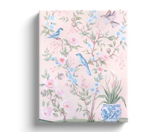 Blush Chinoiserie No. 2, Canvas Gallery Wrap