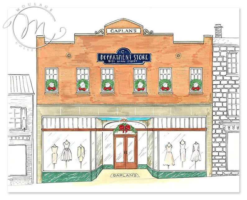 Department Store illustration digital download printable art image 0