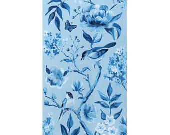 Blue Chinoiserie No. 1, a fine art print on canvas