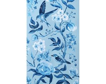Blue Chinoiserie No. 2, a fine art print on canvas