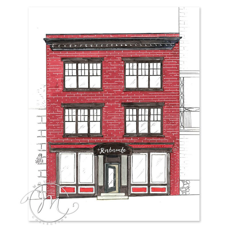 Ristorante illustration digital download printable building image 0