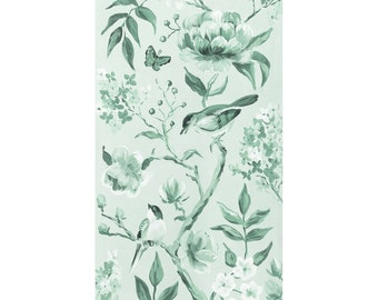 Green Chinoiserie No. 1, A Fine Art Print On Canvas