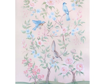 Blush Chinoiserie No. 1, Canvas Gallery Wrap