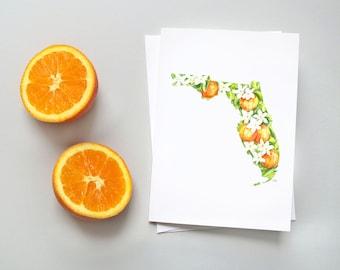 Florida Orange Blossom Note Card Set
