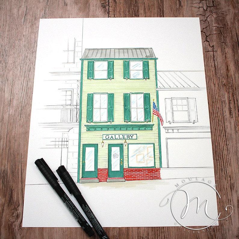 Gallery Main Street ink drawing image 0