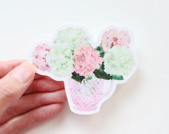 """Hydrangea bouquet sticker, """"Prepare a Table"""""""