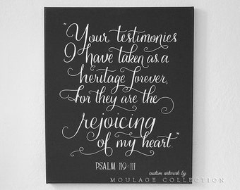 """Quote drawing by hand, 18"""" x 24"""" canvas, custom ink drawing, hand lettering, chalkboard style"""