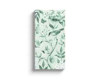 Green Chinoiserie No. 1, Canvas Wrap
