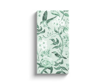 Green Chinoiserie No. 2, Canvas Wrap