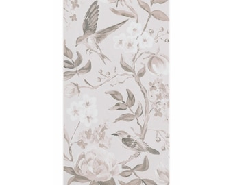 Taupe Chinoiserie No. 2, Canvas Wrap