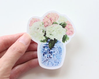 "Hydrangea bouquet sticker, ""New England Summer"""