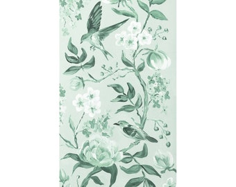 Green Chinoiserie No. 2, A Fine Art Print On Canvas
