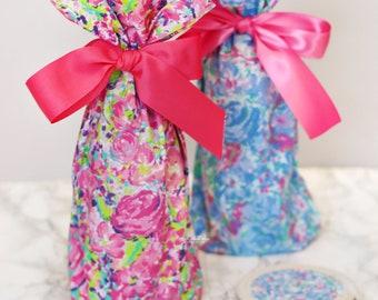 Wine bag and coaster gift set