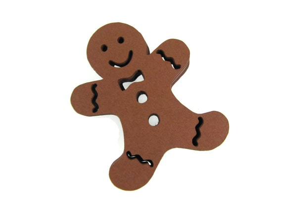 Gingerbread Man Paper Cut Outs Set Of 25 Etsy