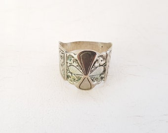Vintage Unique Moroccan Berber Amazigh Sterling silver Ring  Shield ring Unisex Mens Ring- size US 10.5 Euro 64