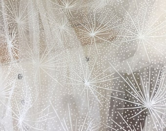 Off white hot glue glitter tulle star lace fabric for wedding gown prom dress  lace gown  a6adf5b59825