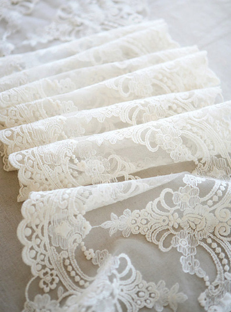 5 Yards Vintage Cotton tassel lace Crochet Trim Wedding dress Sewing accesories
