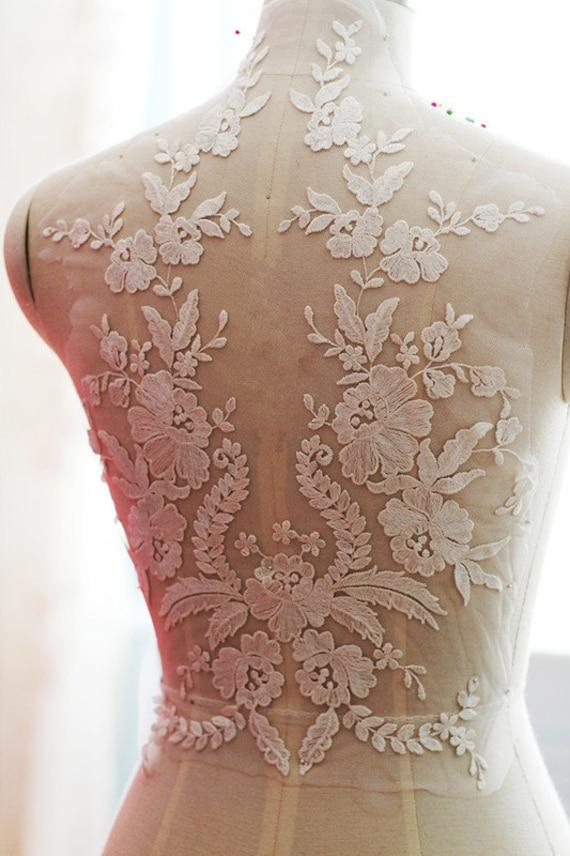 Exquisite Wedding Lace Applique Bridal Veil Applique For Etsy
