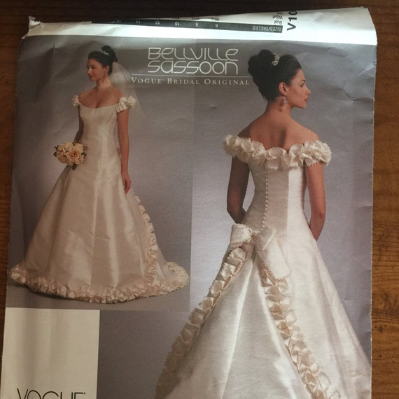 Free Shipping Vogue V1095 Gorgeous Wedding Gown Pattern Sizes | Etsy