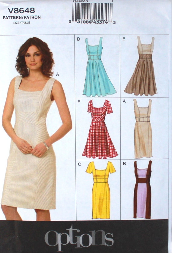 Vogue Pattern V8648 Free Shipping Easy Pattern Plus Size Dress Etsy