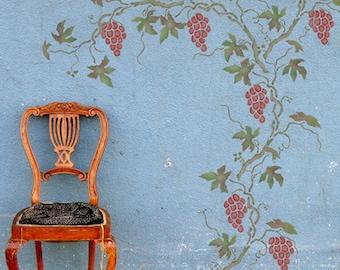 Grapevine Stencil - Vine Stencil - Wall Stencils - Grapes and Vine stencil - Foliage stencil - Leaves Stencil - 10143