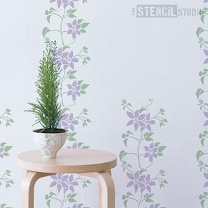 Annelise Border Stencil-unique Flora Réutilisable Pochoir from the Stencil Studio