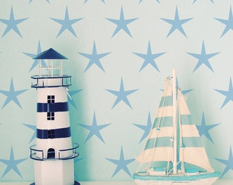 Star Repeat Stencil from The Stencil Studio. Reusable, easy to use. Size 10 x 6 inches. 10222S