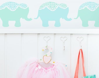 Nellie Elephant Stencil from The Stencil Studio. Reusable, easy to use. Size approx 9 x 6 inches. 10293S