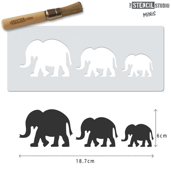 Reusable Stencils for Crafts /& DIY 10527 Stencil MiNiS Elephants Stencil