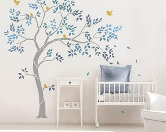 Tree Stencils - Nursery Stencils - Wall Mural Stencils - Nursery Decor Stencils - Reusable Wall Stencils - Tree Stencil Pack 10618