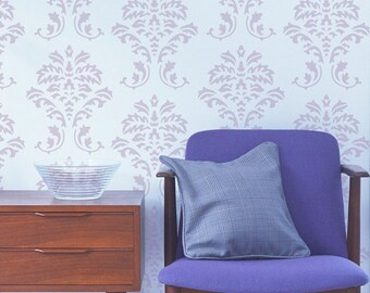 Damask Stencil from The Stencil Studio. Reusable, easy to use. Size 7 x 8.5 inches. 10057S