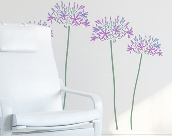 Agapanthus Stencil from The Stencil Studio. Reusable, easy to use. Size 20.5 x 30 inches. 10001XL