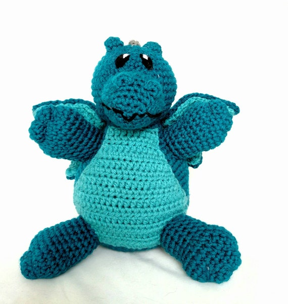 Teal Dragon Stuffed Animal Dragon Drake Blue Dragon Plush Toy Machine Washable Teal With Aqua Baby Shower Gift Unisex