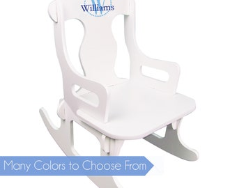 Boyu0027s Personalized Puzzle Rocker White Childu0027s Rocking Chair With Monogram  Any Color Just Name Childrenu0027s Small Chair Toddler Baby Boy PUZZ