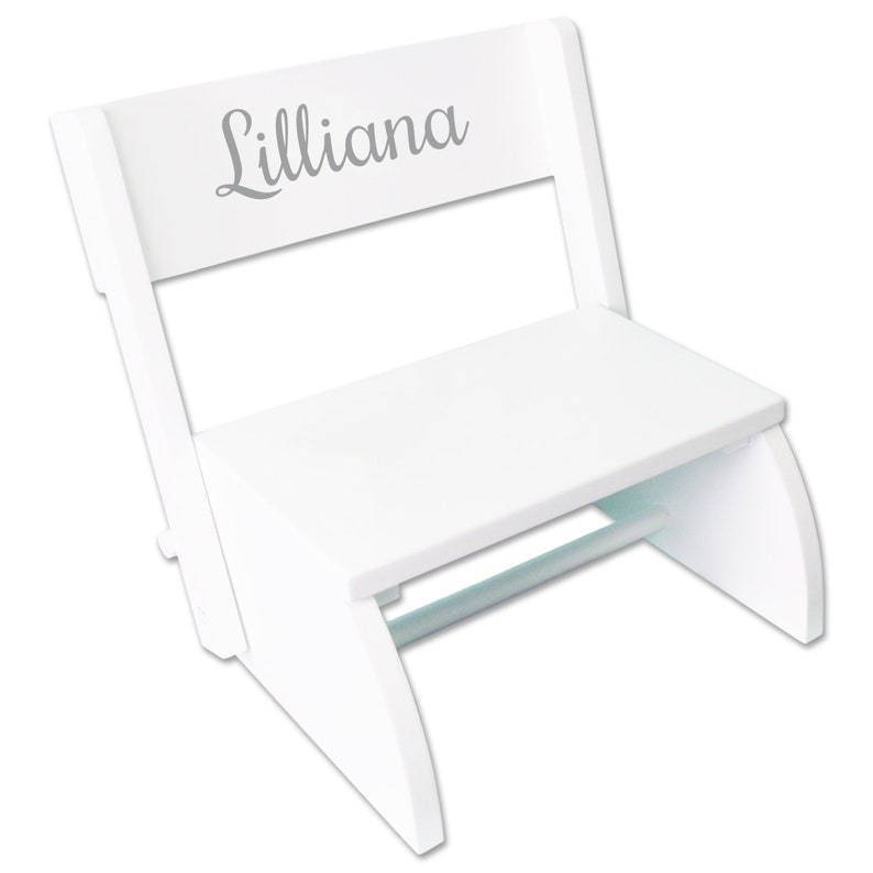 Awesome Childs Personalized White Bench Step Stool With Just Name Toddlers For Kids Stepping Stool Children Nursery Furniture Bed Bathroom Stoo Whi Gmtry Best Dining Table And Chair Ideas Images Gmtryco
