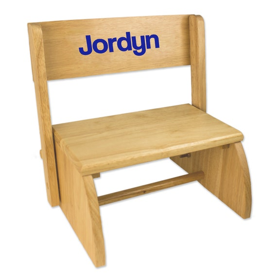 Surprising Childs Personalized Wood Bench Step Stool With Just Name Toddlers For Kids Stepping Stool Childrens Nursery Furniture Bed Bathroom Stoo Nat Creativecarmelina Interior Chair Design Creativecarmelinacom