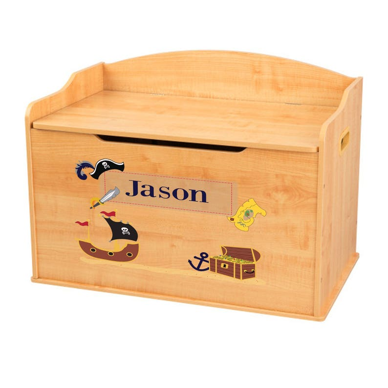 Stupendous Personalized Pirate Natural Wood Toy Box Bench Treasure Chest For Toys Boys Pirates Peter Pan Bedroom Play Room Nursery Hook Benc Kk Nat 214 Ocoug Best Dining Table And Chair Ideas Images Ocougorg