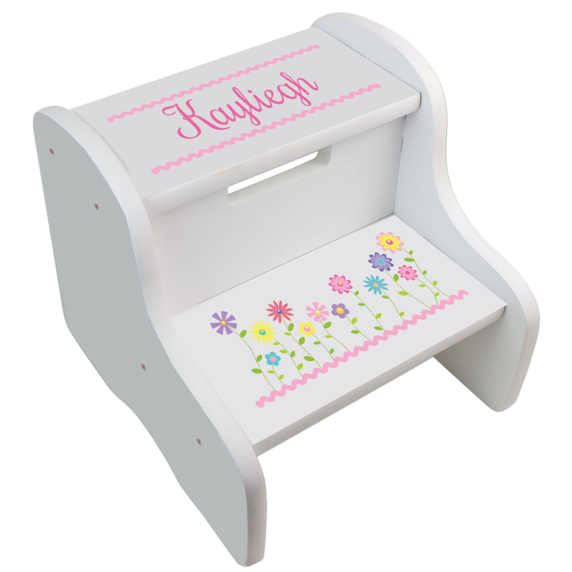 Personalized Step Stool For Girls Custom Stepping Stools