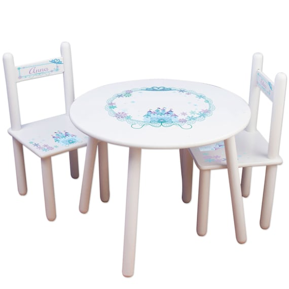 Sensational Girls Princess Table Chair Set Kids Furniture Childs Table Personalized Chairs For Bedroom Playroom Disney Frozen Princesses Tablest 307 Evergreenethics Interior Chair Design Evergreenethicsorg